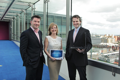 Eamonn Fallon, Chairman, IAB Ireland, Suzanne McElligott, CEO, IAB Ireland, and Bartley O' Connor, PwC at the launch of the IAB/PwC 2010 Adspend Study
